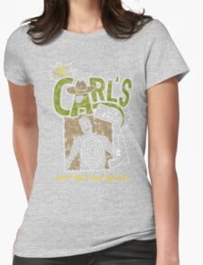 Carl's Gun Range - Don't Shoot Your Eye Out! Womens Fitted T-Shirt