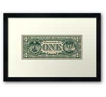 The One Bill. Framed Print