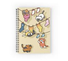 clothesline kitties!! Spiral Notebook