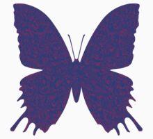 #DeepDream Purple Violet Butterfly Kids Tee