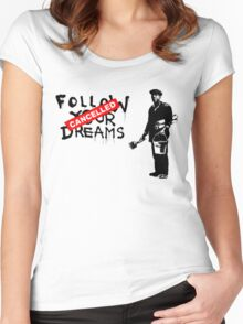 Follow - ONE:Print Women's Fitted Scoop T-Shirt