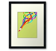Pencil Rainbow! Framed Print