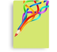 Pencil Rainbow! Canvas Print