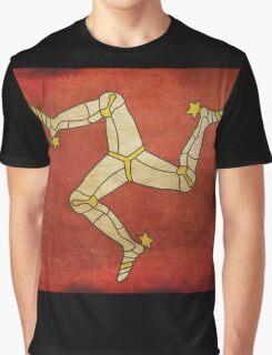 Isle of man flag Graphic T-Shirt