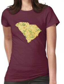 South Carolina Flowers Womens Fitted T-Shirt