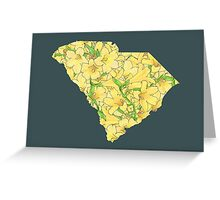 South Carolina Flowers Greeting Card