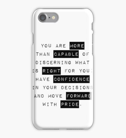 Confidence - Motivational/Inspirational Quote Typography iPhone Case/Skin