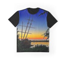 La Grande Hermine at Sunset Graphic T-Shirt