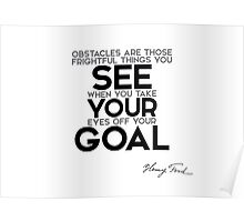 see your goal - henri ford Poster
