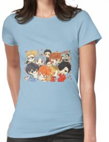 Chibi 7 Haikyuu!! Anime Womens Fitted T-Shirt