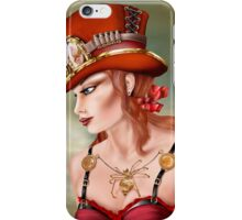 Steam Punk Woman in Red iPhone Case/Skin