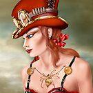 Steam Punk Woman in Red by Paul Fleet