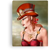 Steam Punk Woman in Red Canvas Print