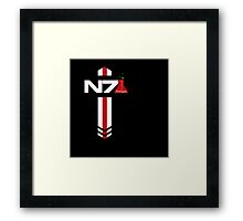 N 7 Nitrogen Effect Framed Print