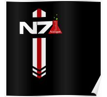 N 7 Nitrogen Effect Poster
