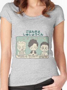 Chibi 5 Haikyuu!! Anime Women's Fitted Scoop T-Shirt