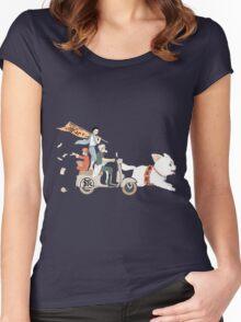 Gintoki Sakata Gintama Anime Women's Fitted Scoop T-Shirt