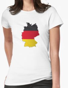 Map of Germany 2 Womens Fitted T-Shirt