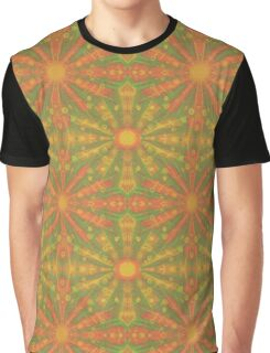"""Sunshine"" abstract pattern in orange and yellow tones Graphic T-Shirt"