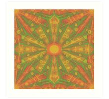 """Sunshine"" abstract pattern in orange and yellow tones Art Print"