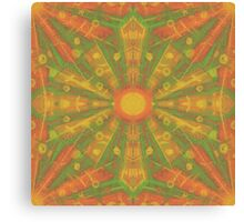 """""""Sunshine"""" abstract pattern in orange and yellow tones Canvas Print"""