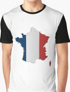 Map of France 4 Graphic T-Shirt