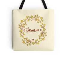 Jasmin lovely name and floral bouquet wreath Tote Bag