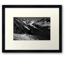 In the Hall of the Mountain King- Glaciers Framed Print