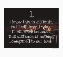 distance is nothing compared to our love. Kids Tee