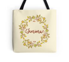 Jemima lovely name and floral bouquet wreath Tote Bag