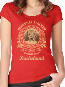 Dachshund Women's Fitted Scoop T-Shirt