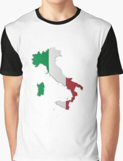 Map of Italy 3 Graphic T-Shirt