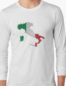 Map of Italy 5 Long Sleeve T-Shirt