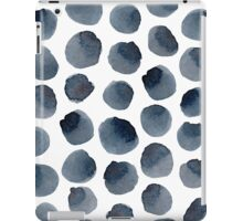 Prussian blue polka dot iPad Case/Skin