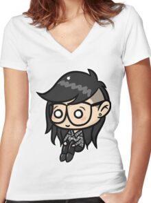 Cute skrillex Women's Fitted V-Neck T-Shirt
