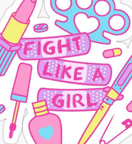 Girl Fighter Sticker