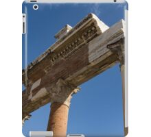 Ancient Pompeii Broken Treasures - A Skyward View of a Classical Corinthian Colonnade Right iPad Case/Skin