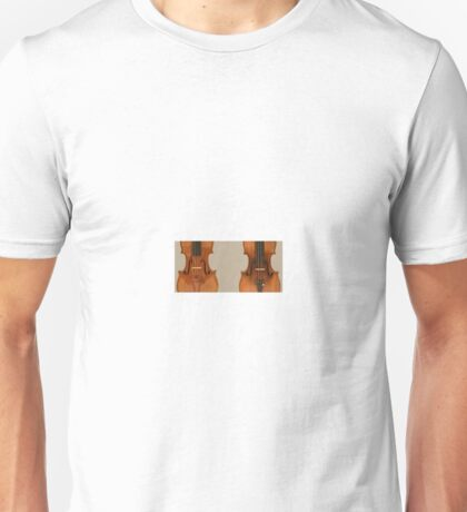 The violin is a string instrument in the violin family Unisex T-Shirt