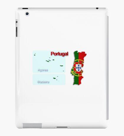 Map of Portugal 2.5 iPad Case/Skin