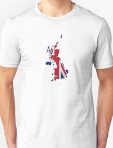 Map of the UK and Crown Dependencies Unisex T-Shirt