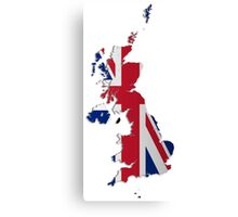 Map of the UK and Crown Dependencies Canvas Print