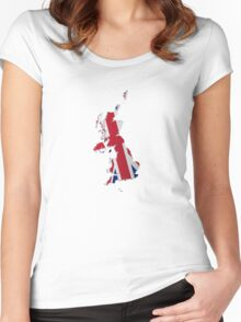 Map of the UK and Crown Dependencies 2 Women's Fitted Scoop T-Shirt