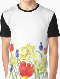 Watercolor spring flower wreath Graphic T-Shirt