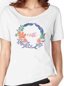 Suburb's Playground: Create Women's Relaxed Fit T-Shirt