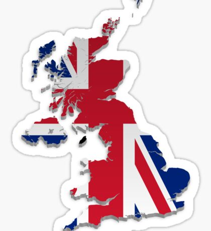 Map of the UK and Crown Dependencies 3 Sticker