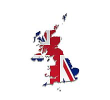 Map of the UK and Crown Dependencies 3 Photographic Print