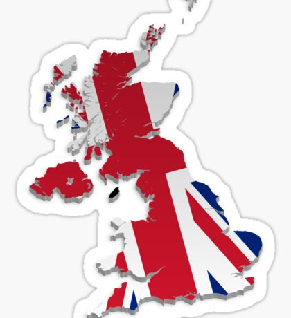 Map of the UK and Crown Dependencies 4 Sticker