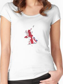 Map of the UK and Crown Dependencies 4 Women's Fitted Scoop T-Shirt