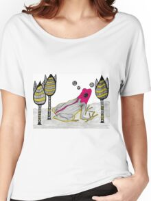 pink froh in the garden Women's Relaxed Fit T-Shirt