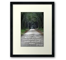 Forest of Magic, Serenity, Sorcery and Mystery Framed Print